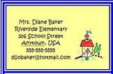 Back To School Night Business Cards