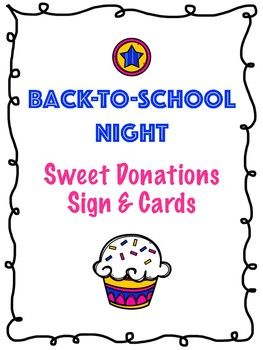 Back-To-School Night Donation Sign