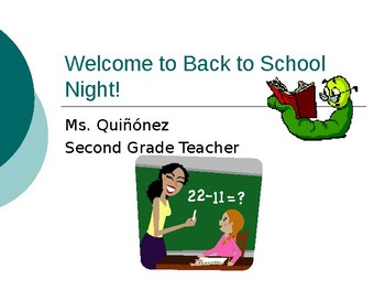 Back To School Night- EDITABLE Powerpoint