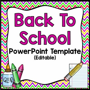 Back To School Night-Editable PowerPoint Brights/Chevron