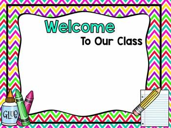 Back To School Night-Editable PowerPoint Brights/Chevron