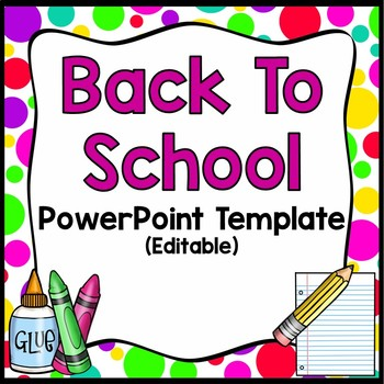 Back to school night editable powerpoint brightspolkadots by back to school night editable powerpoint brightspolkadots toneelgroepblik Gallery