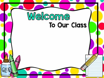 Back To School Night-Editable PowerPoint Brights/Polkadots