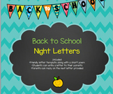 Back To School Night Letters from Students to Parents