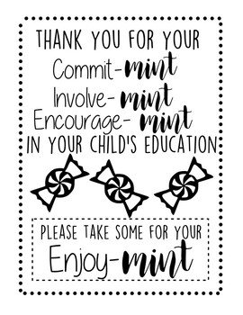 Back To School Night 'Mint' Signs