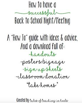Back To School Night & Open House Bundle