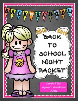 Back To School Night Packet (2015-2016)