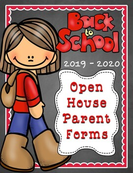 Back To School Night/Open House Parent Forms for 2017-2018