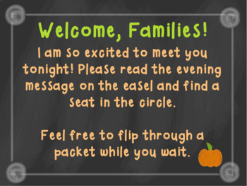 Editable Back To School /Meet The Teacher Night Presentation (Succulent/Pumpkin)