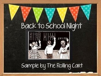 Back To School Night Presentation Sample