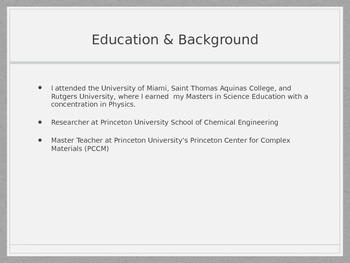 Back To School Night Presentation for High School Science