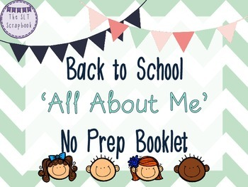 Back To School- No Prep All About Me Booklet- Freebie