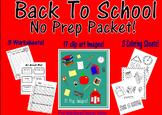 Back To School No Prep Bundle-Coloring, Worksheets, Clip Art