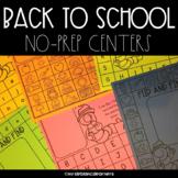 Back To School No Prep Center Mats
