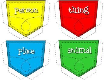 Nouns - K-2 SUPER Pack for DUAL Language {Spanish & English Nouns}