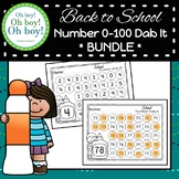 Back To School Number 0-100 Dab It BUNDLE