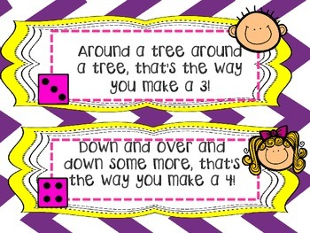 Back To School Number Formation Cards!