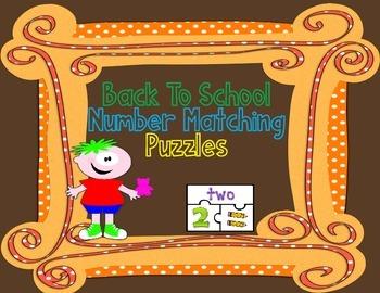 Dual Language / Bilingual Center:    Number Matching Puzzles 1-16