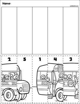 Back To School Number Order Cut & Paste | Numbers 1-5