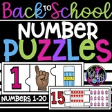 Back To School Number Puzzle (1-20)