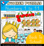 Back To School Number Puzzles (English/Anglais)