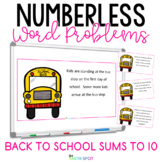 Back To School Numberless Word Problems Kindergarten Addit