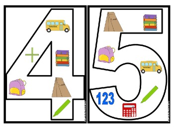Back To School Numbers with Symbols Set
