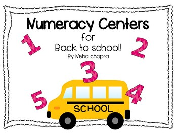 Back To School Numeracy Centers!
