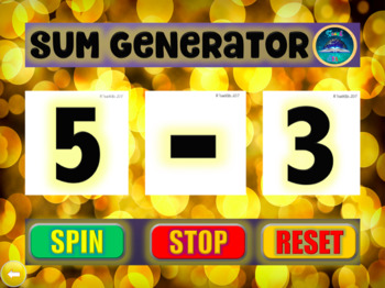 Back To School : Numeracy / Math : Sum Generator
