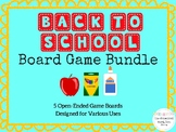 Back To School Open Ended Board Game Bundle First Week Speech
