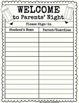 to school open house/parents' night activities & printables, Powerpoint templates