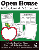 Back To School Open House/Parents' Night Activities {Apple Themed- Editable}