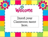 Open House Flower Themed Powerpoint Template