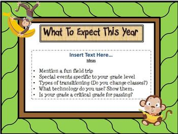 Open House Monkey/Jungle Themed Powerpoint Template