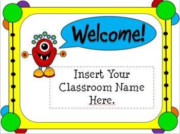 open house monster themed powerpoint template by teaching 4 real