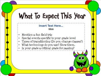 Open House Monster Themed Powerpoint Template