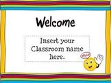 Back To School Open House Powerpoint Template: Rainbow Themed/Tye dye