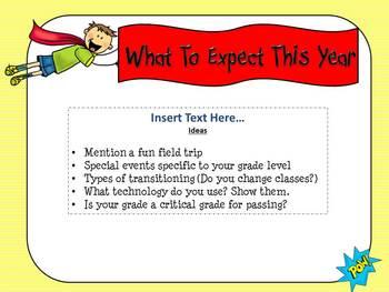 open house super hero themed powerpoint templateteaching 4 real, Modern powerpoint