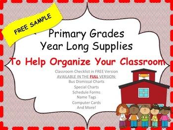 Back To School Organizational Tools _ FREE SAMPLE