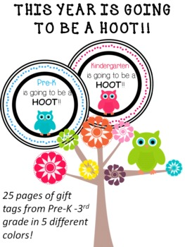 Back To School Owl Gift Tags