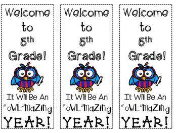 Back To School Owl Themed Bookmarkis FREEBIE!