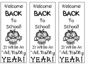 Back To School Owl Themed Bookmarkis FREEBIE!