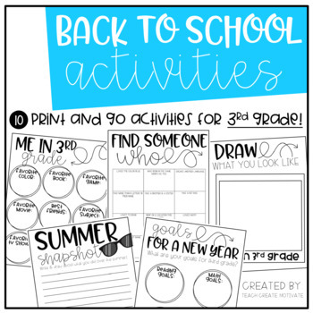 Back To School Pack {3rd Grade}
