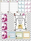 Alice in Wonderland Classroom Pack-back to school