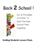 Back To School Packet!