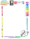 Back To School Paper Border- Cochlear Implant