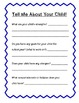 Back To School - Parent Contact Form