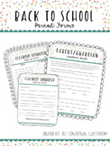 Back To School Parent Forms - FREE