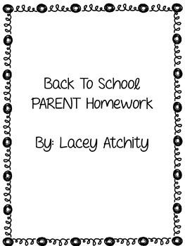 Back To School Parent Homework