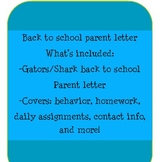 Back To School Parent Letter